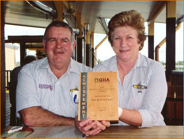 Bob and Julie Porter - QHA's 'Hoteliers of the Year'